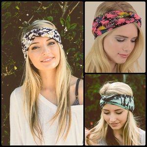Accessories - Floral Tropical Turban Head Wrap